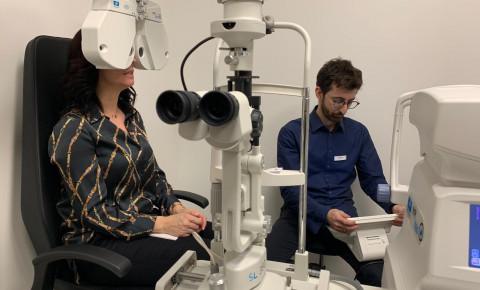 Vyšetrenie zraku v  DUOS